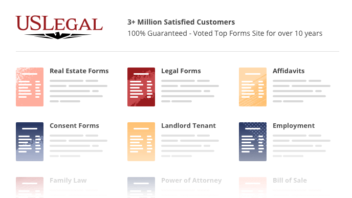 Image with different USLegal forms.