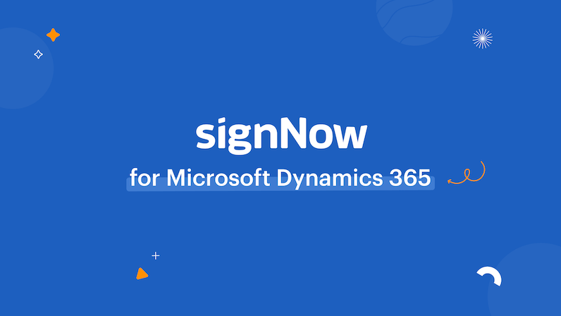signNow for Dynamics 365